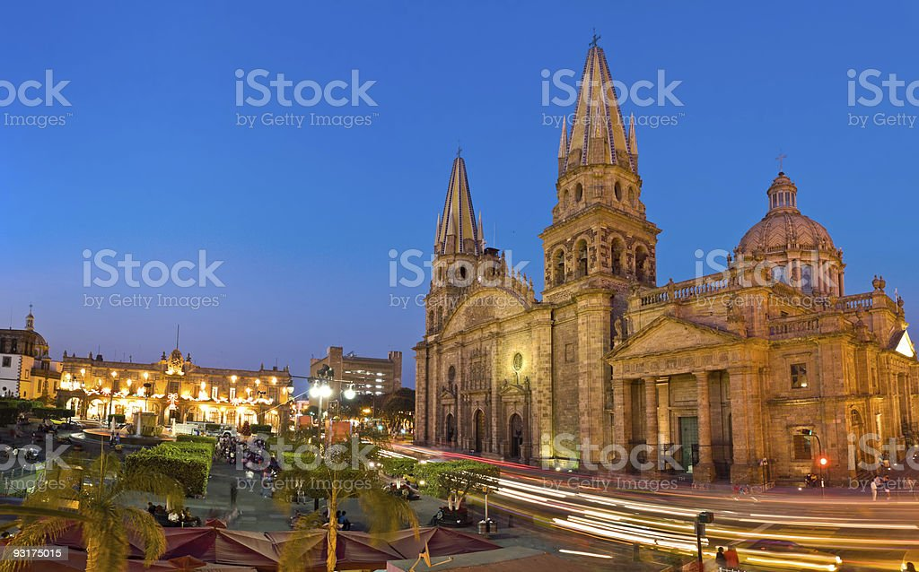 Guadalajara Cathedral Mexico stock photo