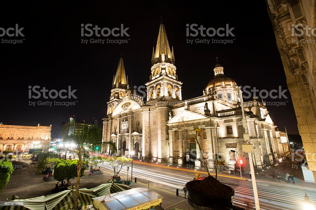 Guadalajara cathedral stock photo