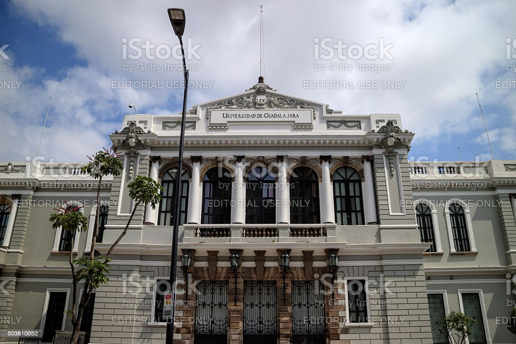Guadalajara University Building stock photo
