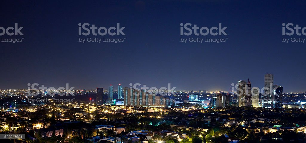guadalajra at night stock photo