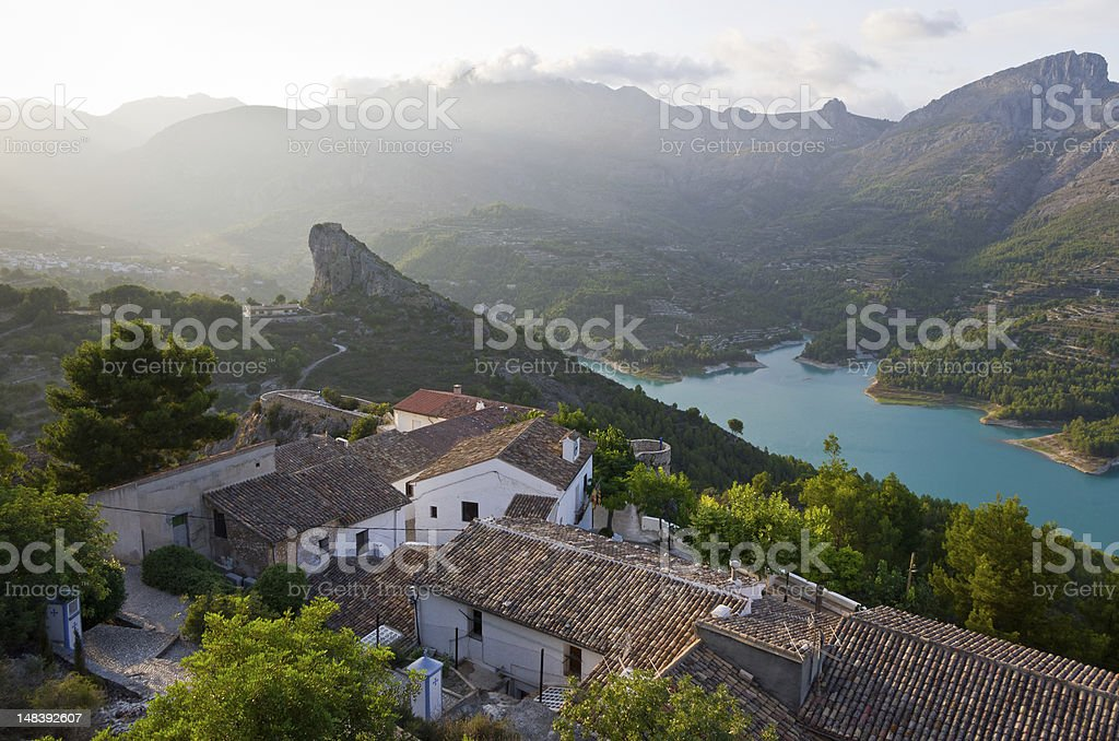 Guadalest Late Evening stock photo