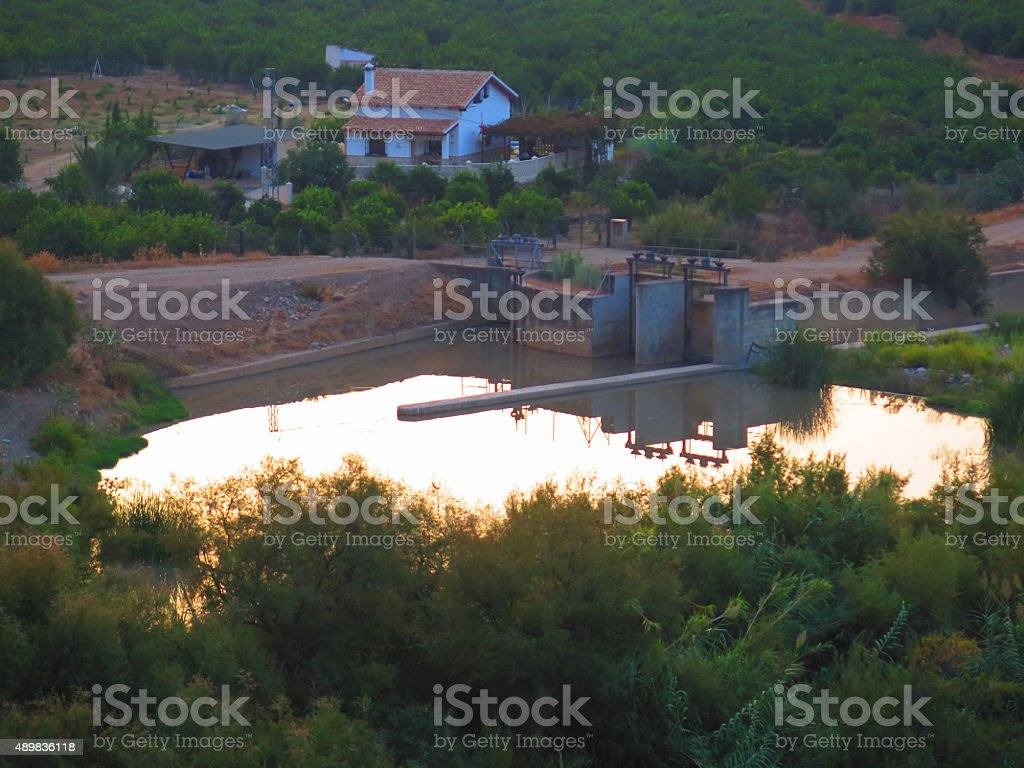 Guadalhorce River Weir stock photo
