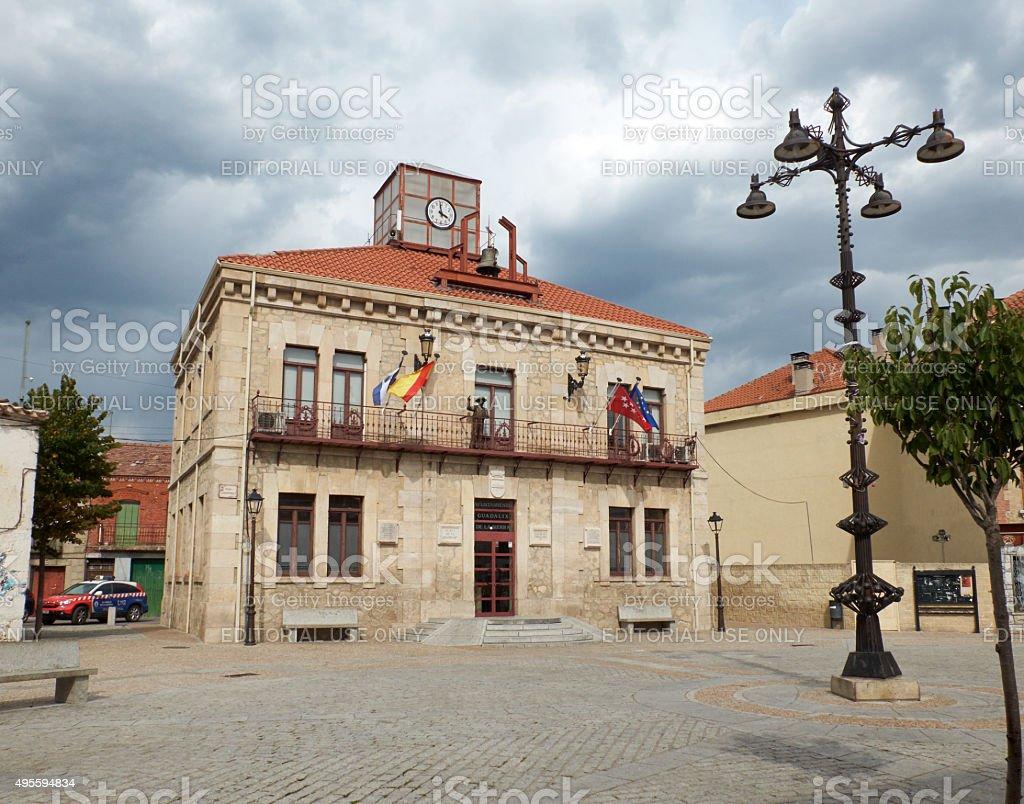 Guadalix de la Sierra Town Hall. Madrid, Spain. stock photo