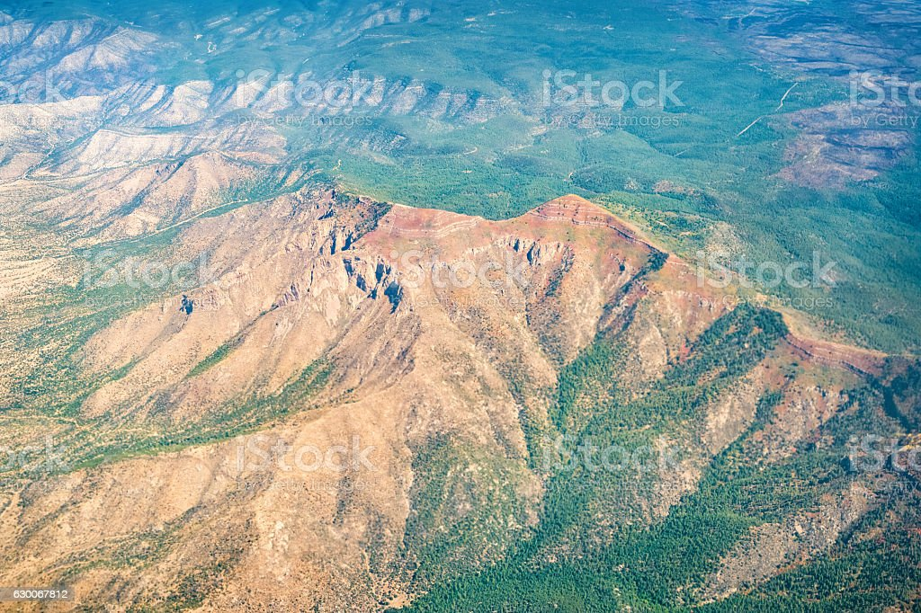 Guadalupe and Mosca Peaks in Manzano Mountains Albuquerque New Mexico stock photo