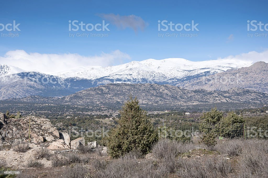 Guadarrama Mountains stock photo