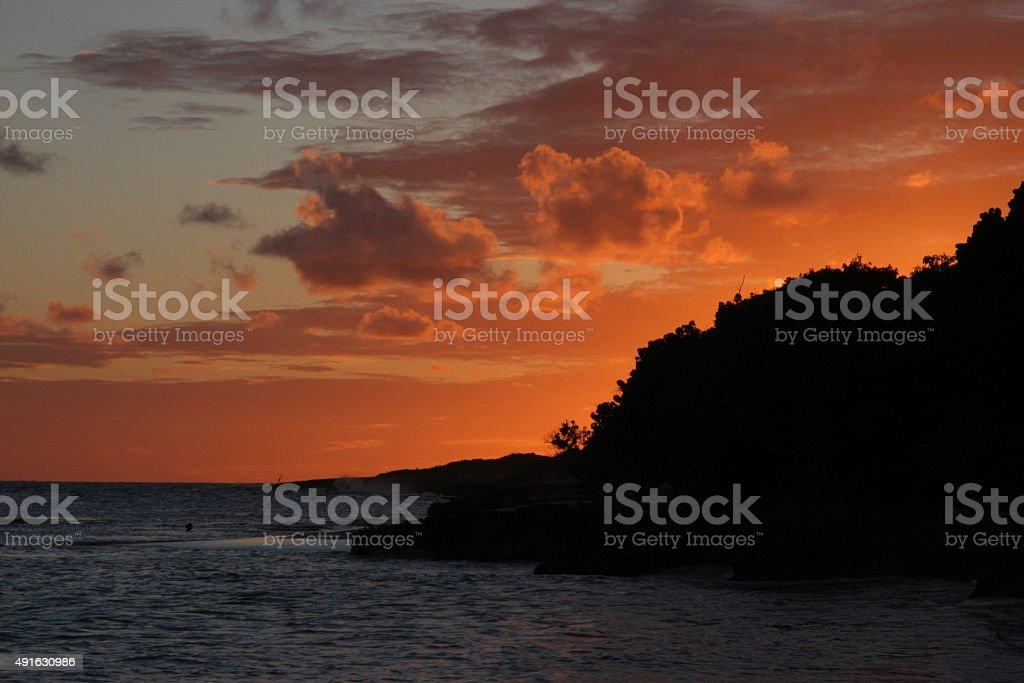 Guadeolupe, sunset stock photo
