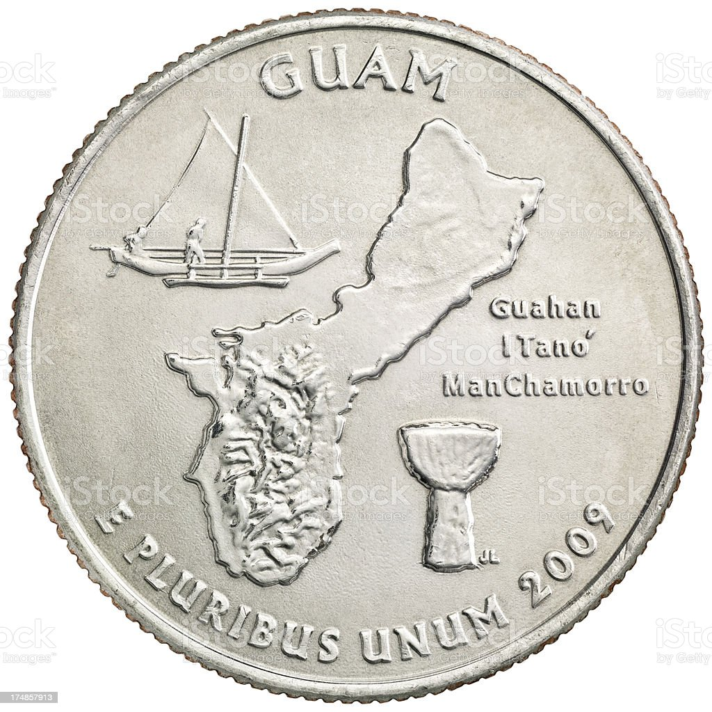 Guam Territories Quarter Coin royalty-free stock photo