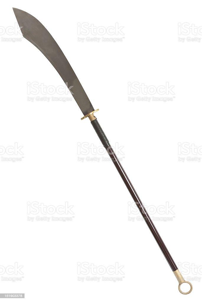 Guan Dao Chinese Pole Weapon stock photo