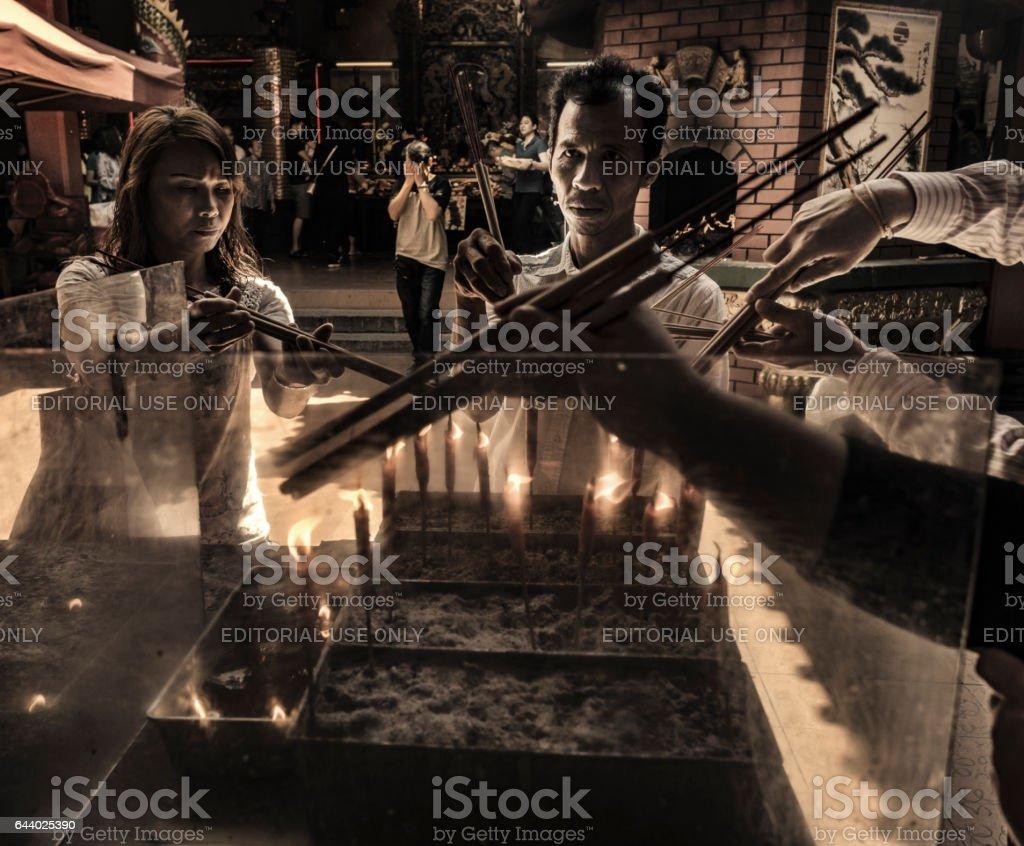 Guan Di taoist temple Kuala Lumpur Malasya stock photo