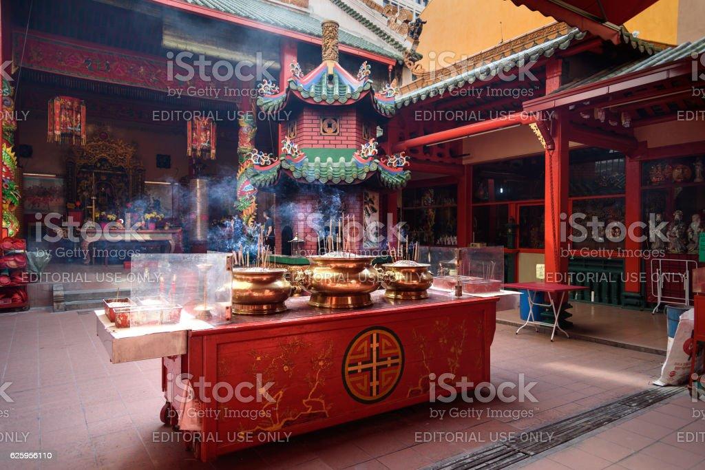 Guan Di Temple in Chinatown. Kuala Lumpur stock photo