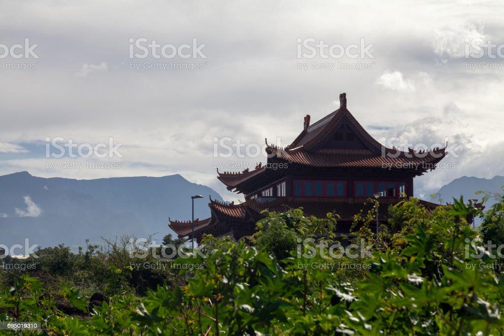 Guan Di temple in Saint-Pierre de la Reunion stock photo