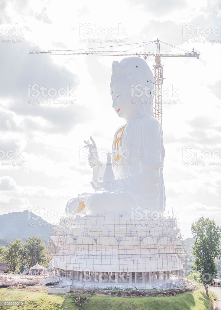 Guan Yin is the Goddess of Mercy stock photo