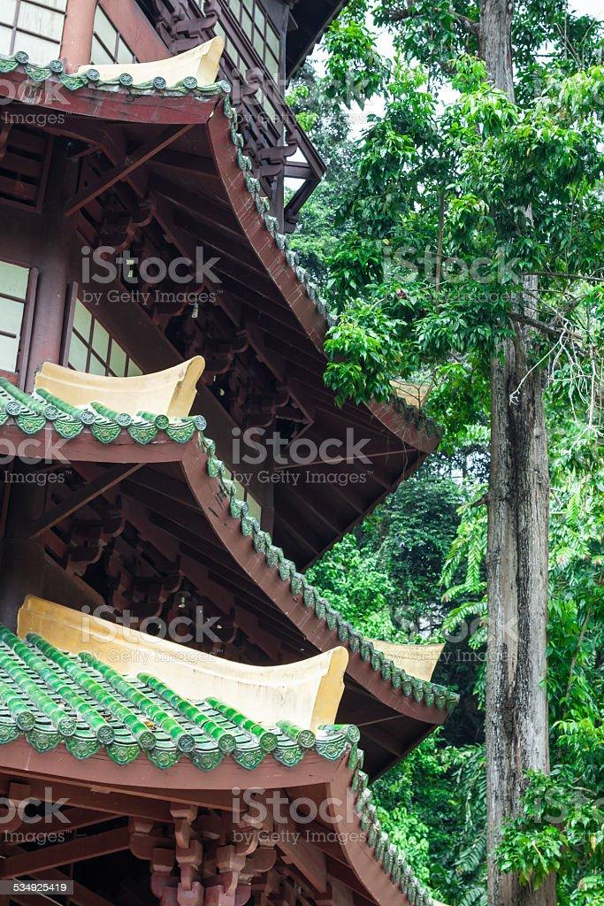 Guan Yin pagoda at place of Tiger Cave Temple stock photo