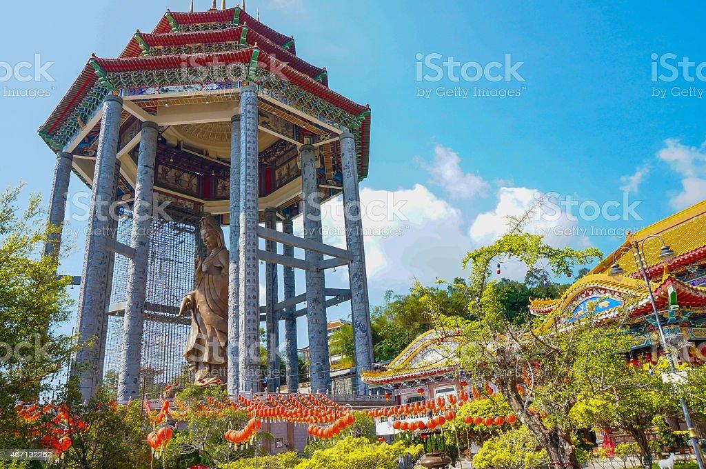 Guan Yin statue stock photo