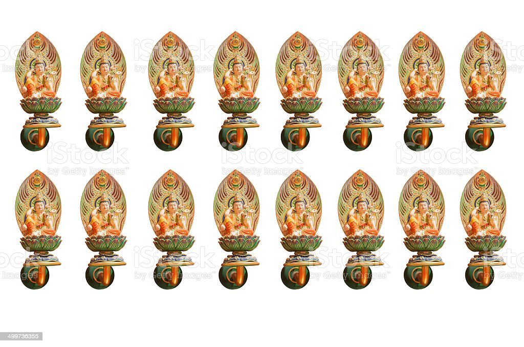 Guan Yin Statue (with clipping path) stock photo