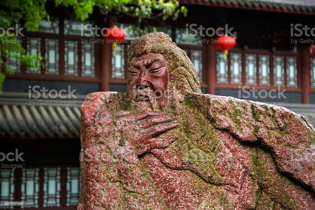 Guan Yu Statue Three Kingdoms Temple Chengdu Sichuan China stock photo
