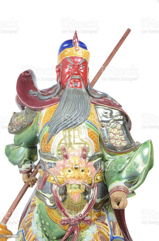 Guan Yu (God of honor) stature royalty-free stock photo