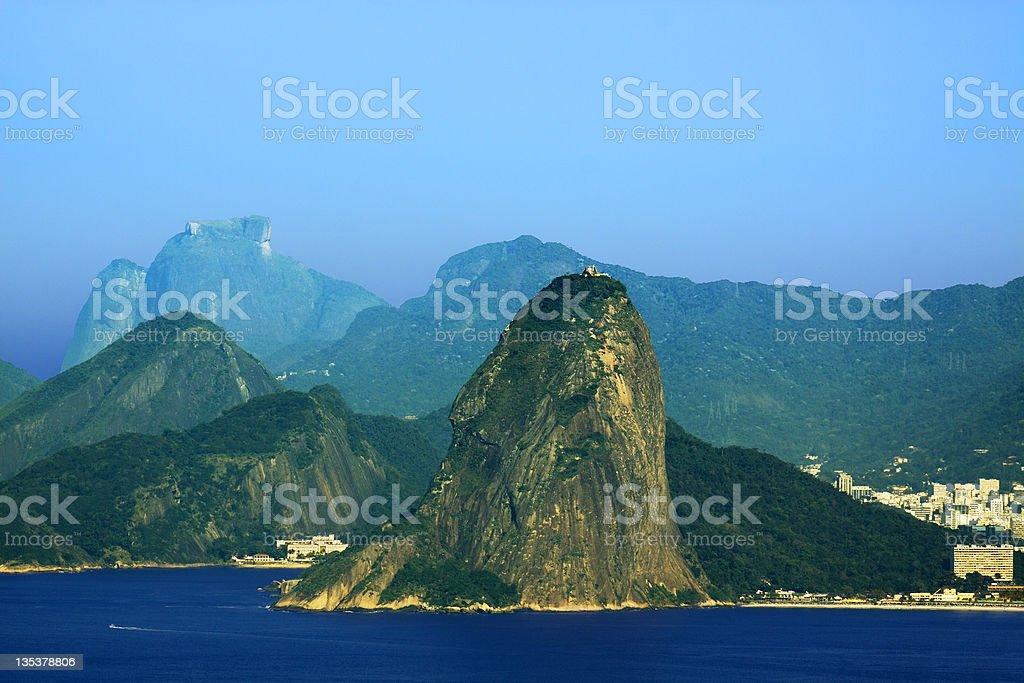 Guanabara bay entrance in Rio de Janeiro royalty-free stock photo