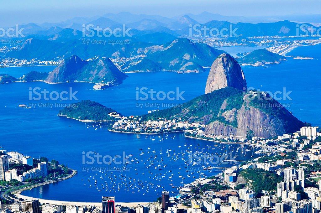 Guanabara Bay highlighting the Sugar Loaf stock photo