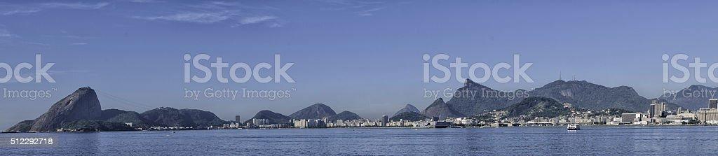 Guanabara bay panoramic view stock photo