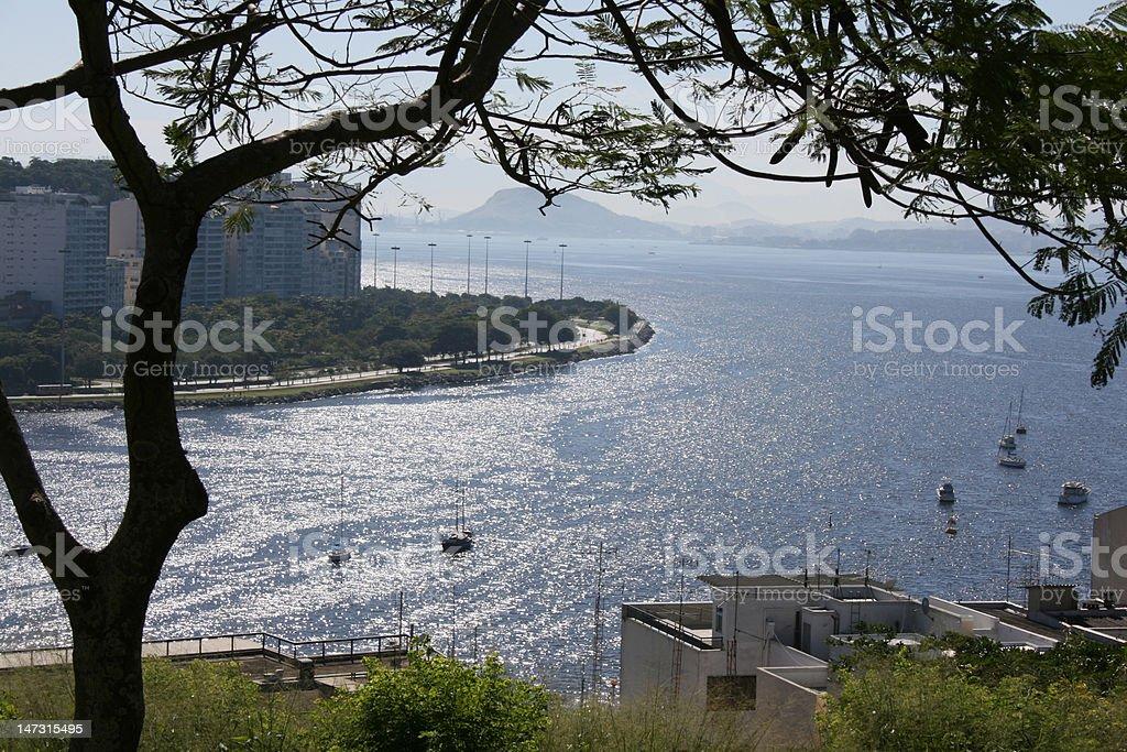 Guanabara bay Pasmado royalty-free stock photo
