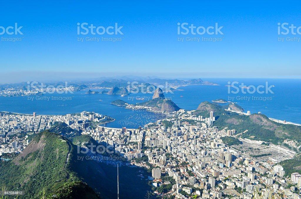 Guanabara Bay view of Christ Redeemer stock photo