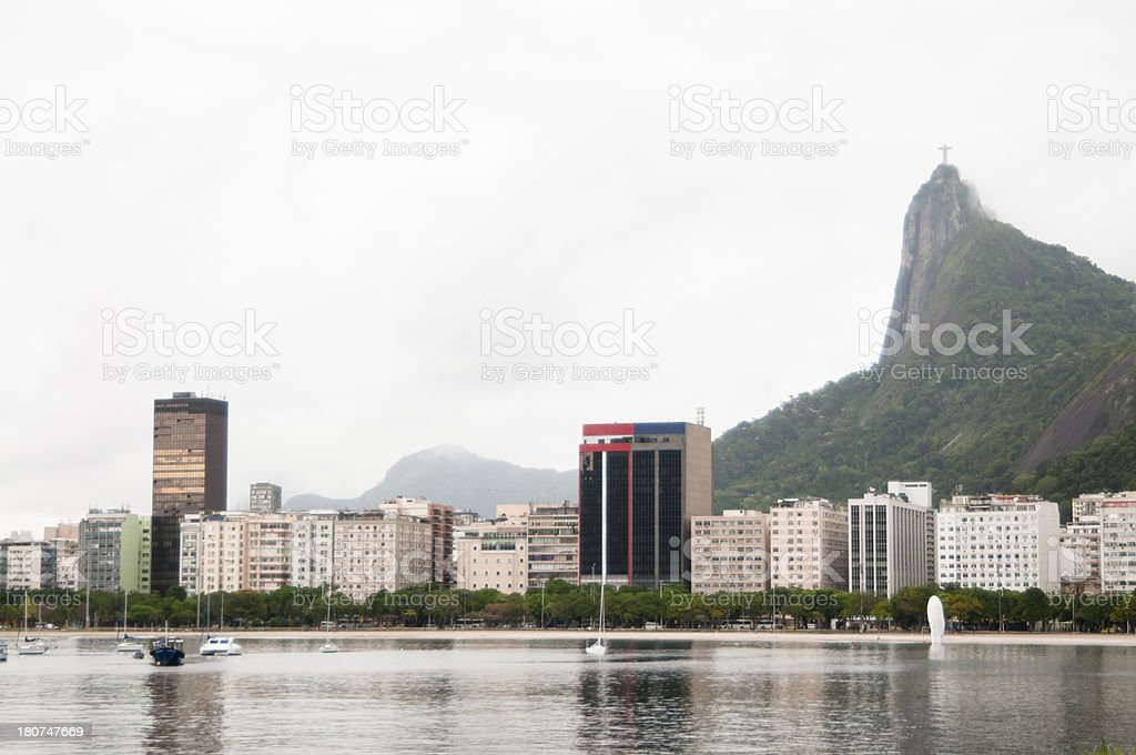 Guanabara Bay View of Christ the Redeemer, Rio, Brazil. royalty-free stock photo