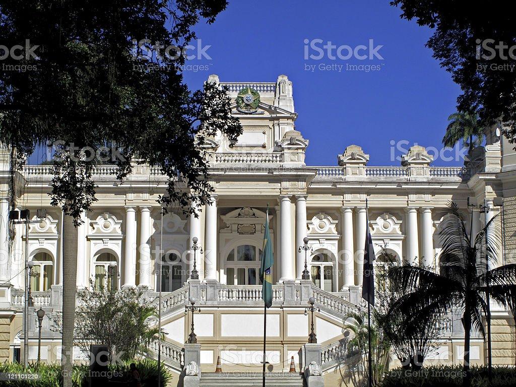 Guanabara Palace in Rio de Janeiro royalty-free stock photo