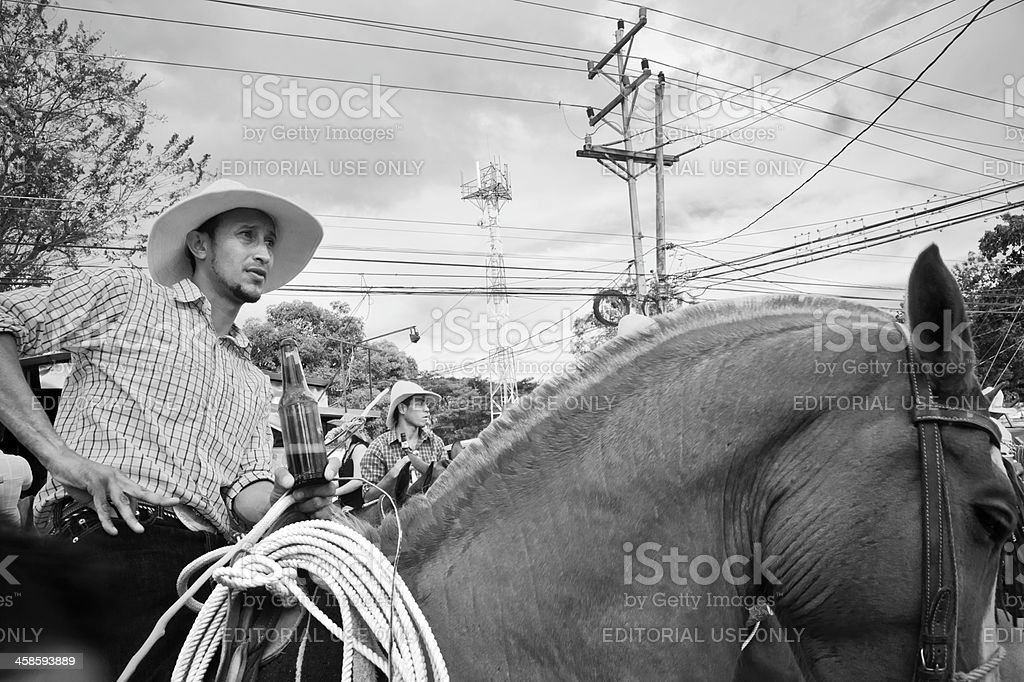 Guanacaste cowboy. stock photo