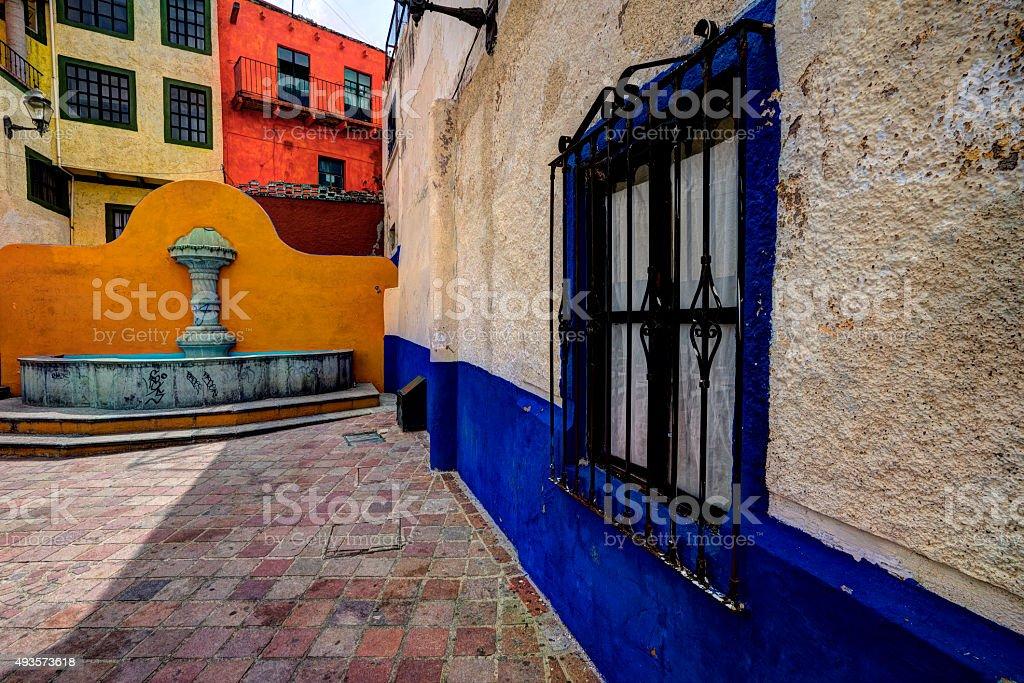 Guanajuato alley stock photo