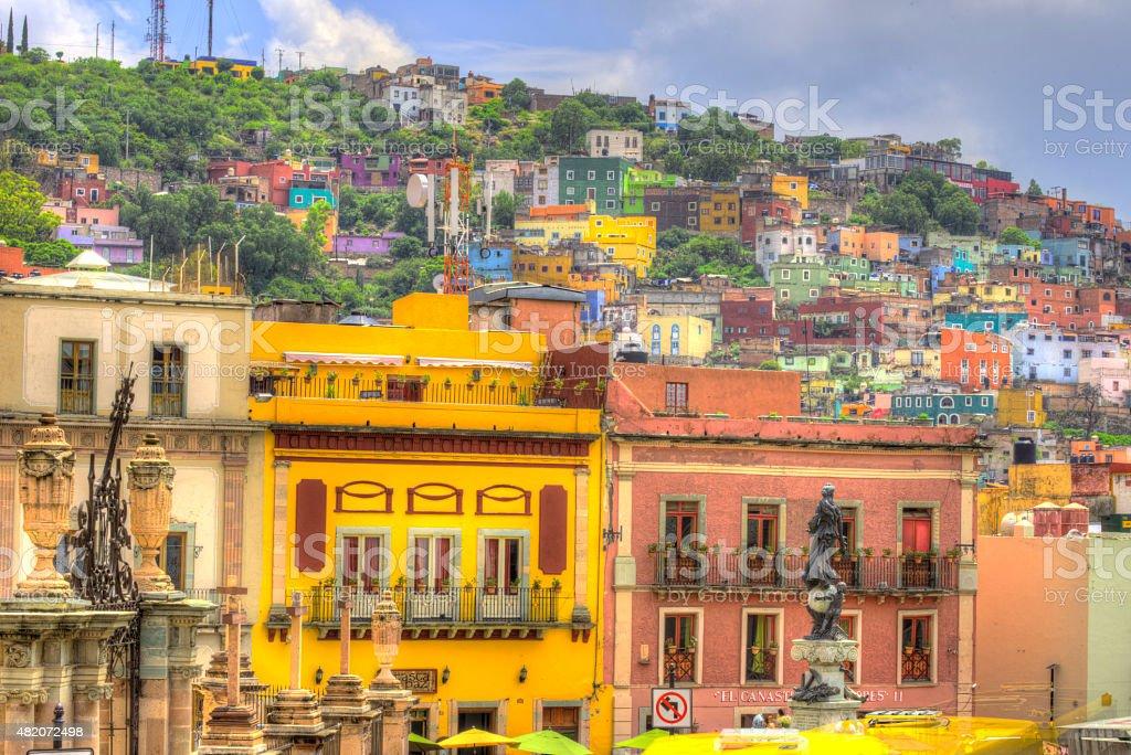 Guanajuato Mexico historic downtown stock photo