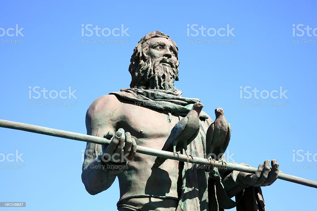 Guanches Chief Statue, Candelaria, Tenerife stock photo