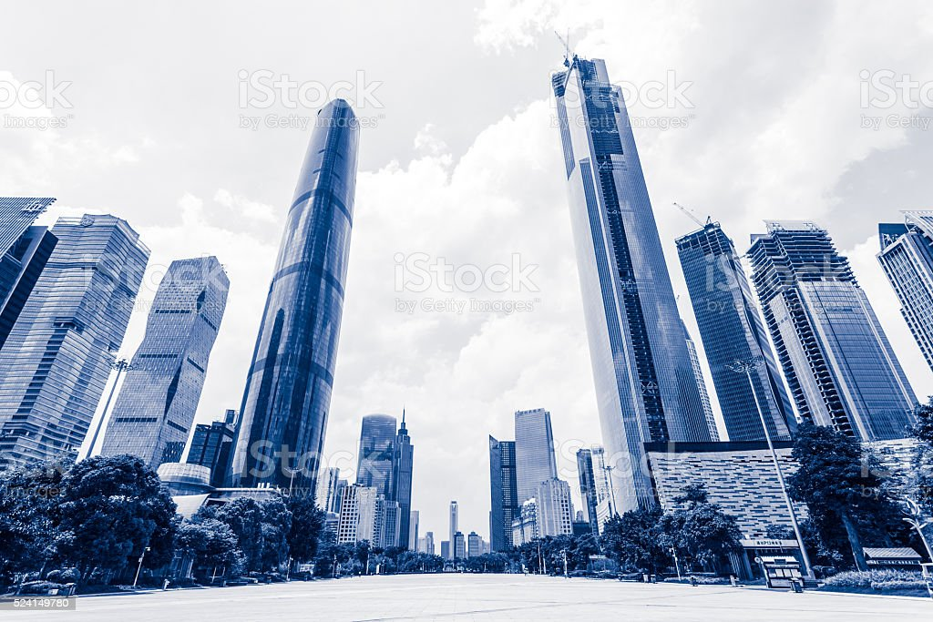 Guangzhou Central Axis Daytime stock photo