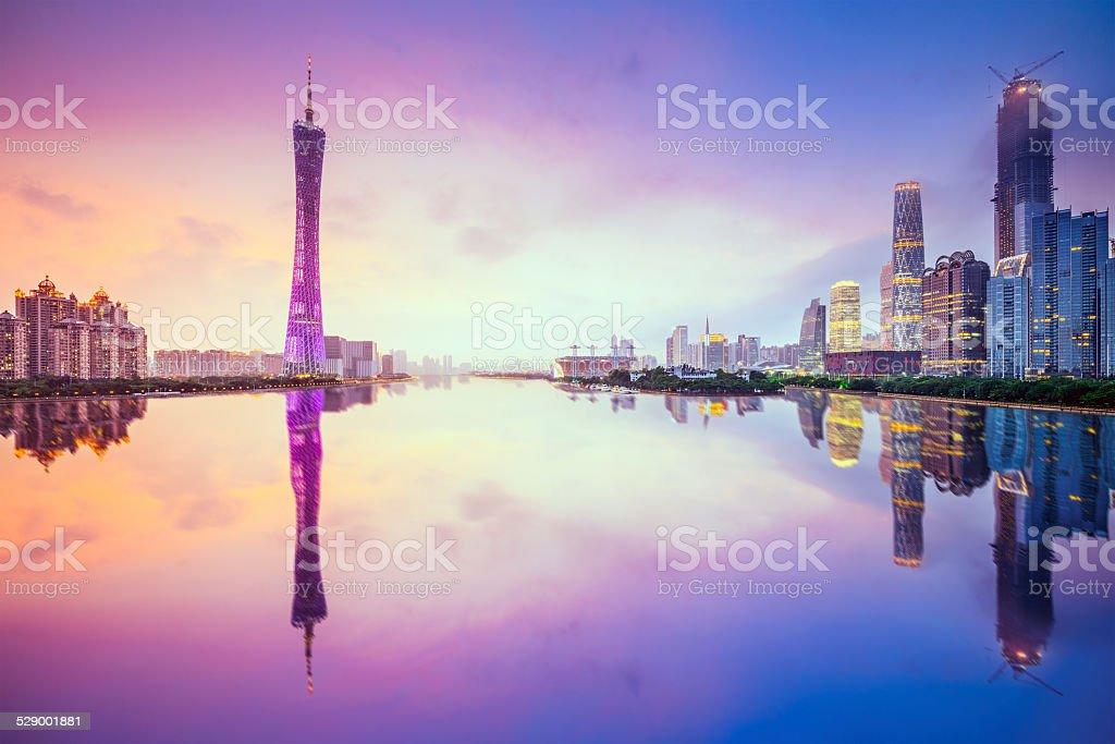 Guangzhou, China City Skyline stock photo