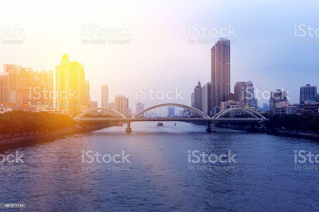 Guangzhou City Building stock photo