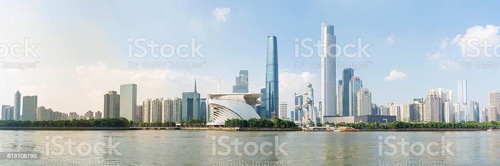 Guangzhou city modern cityscape view, China stock photo