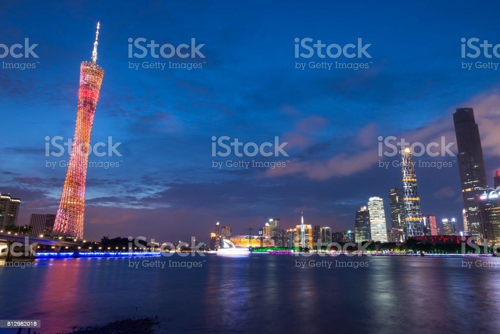 Guangzhou City scenery stock photo
