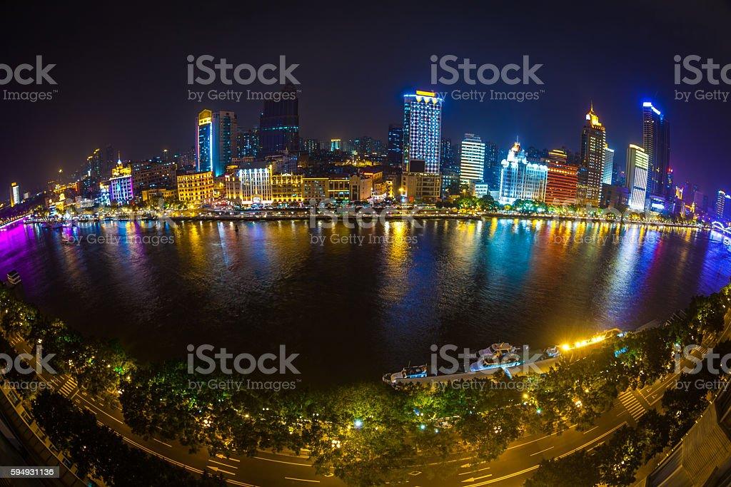 Guangzhou City Skyline stock photo