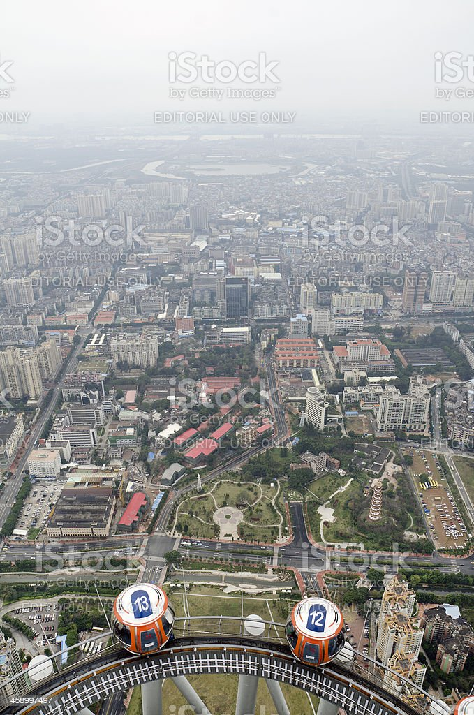 Guangzhou from Canton Tower stock photo