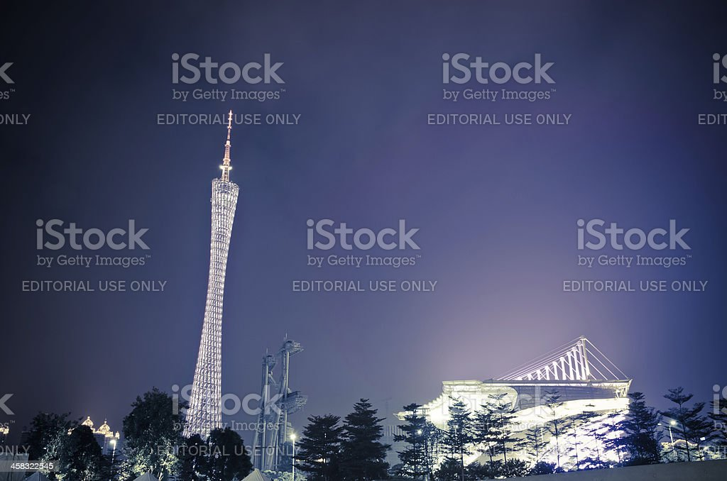 Guangzhou new TV Tower royalty-free stock photo