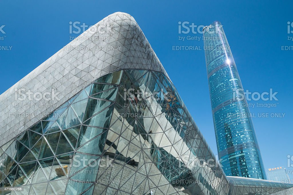 Guangzhou opera house in guangzhou china. stock photo