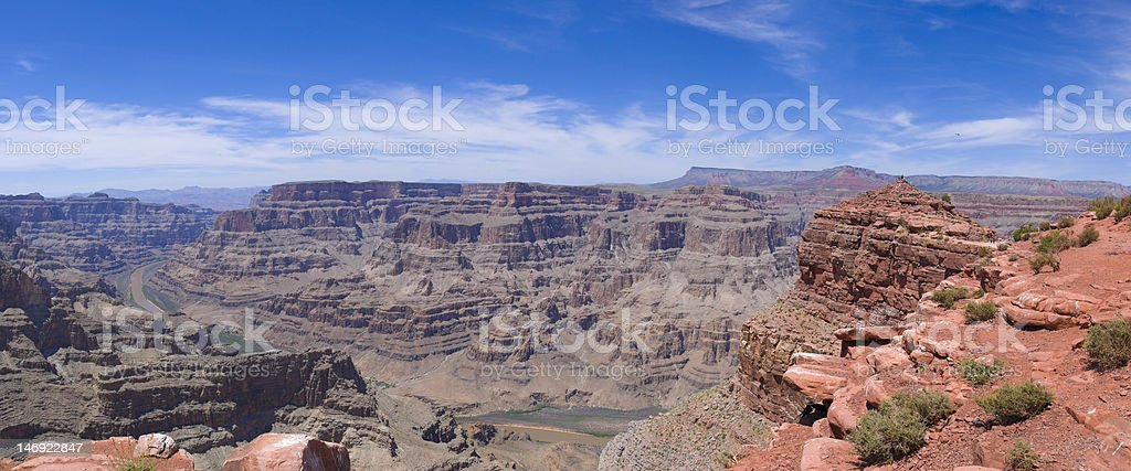 Guano Point and Colorado River, Grand Canyon Panorama royalty-free stock photo