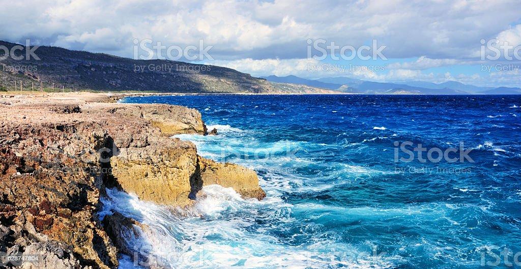 Guantanamo coastline stock photo