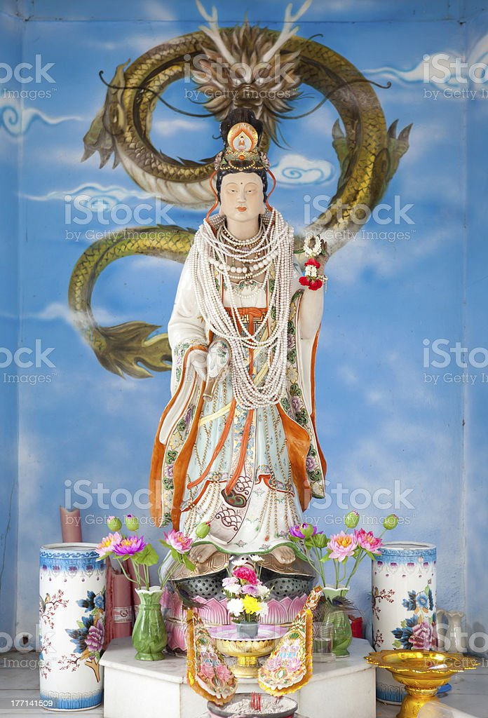 Guanyin statue royalty-free stock photo