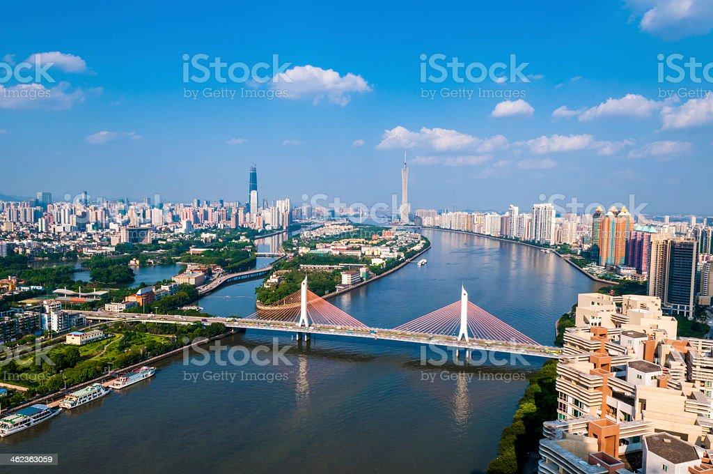 guanzhou cityscape stock photo