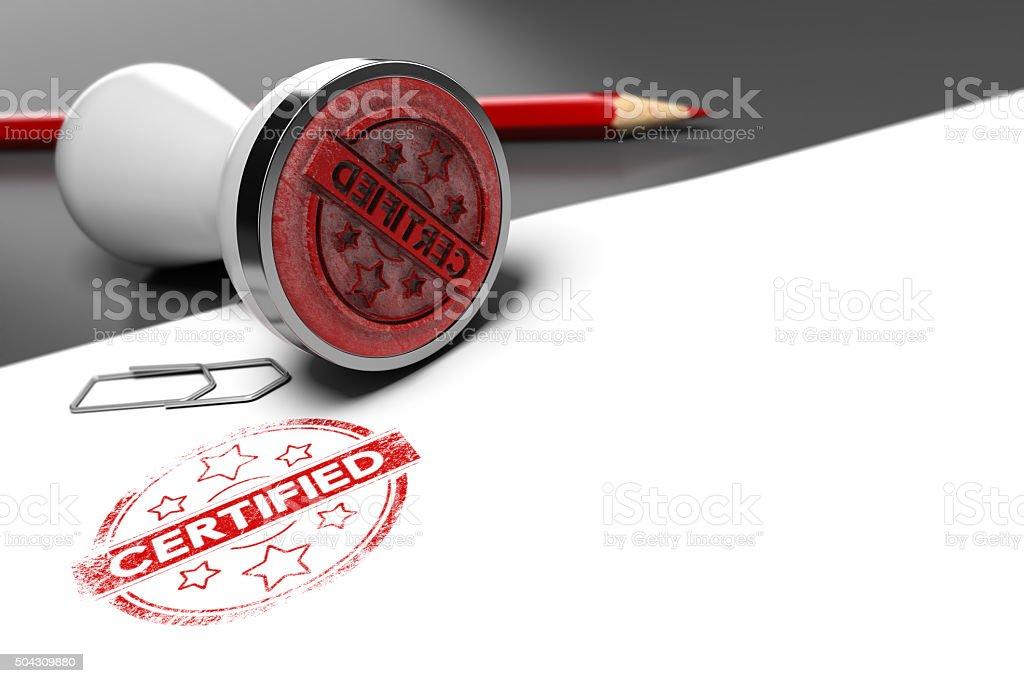 Guarantee Certificate stock photo