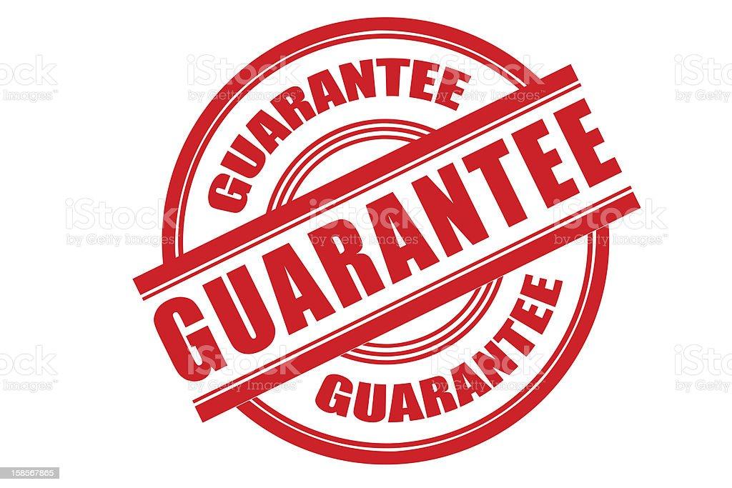 Guarantee royalty-free stock photo