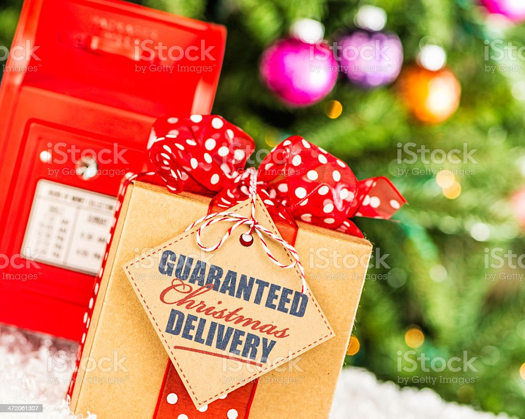 Guaranteed Christmas Delivery stock photo