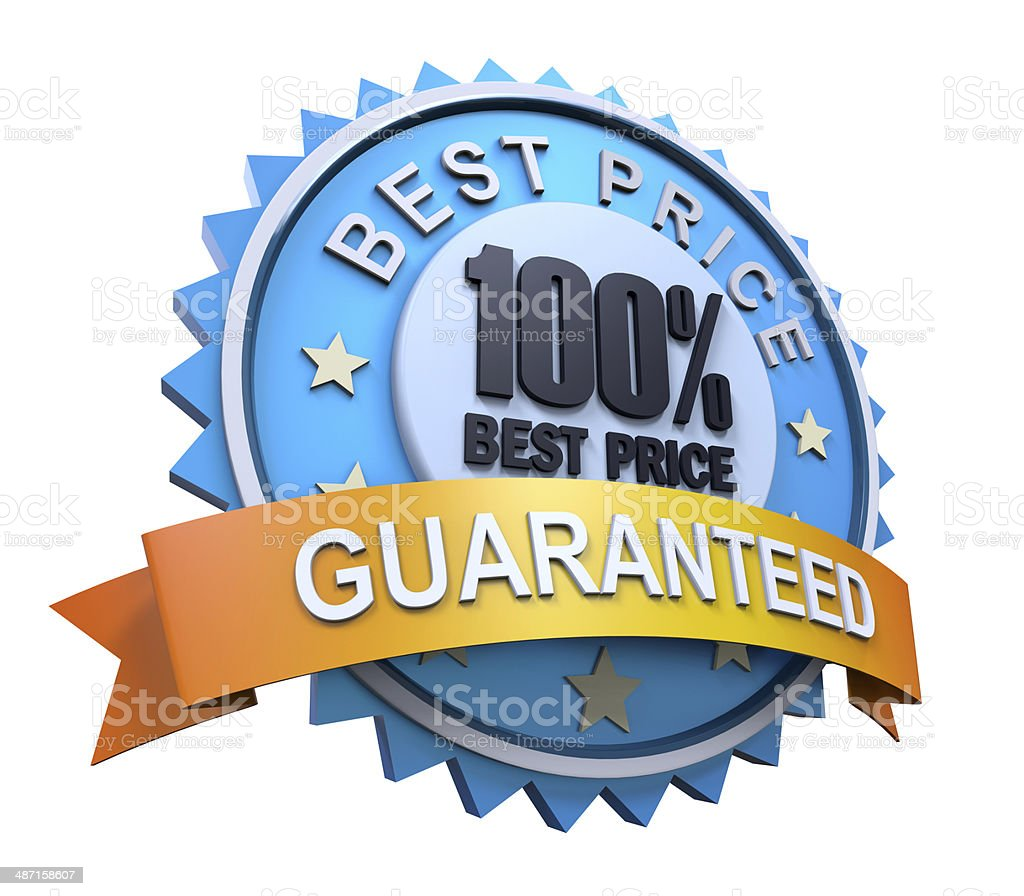 Guaranteed Label with Gold Badge Sign royalty-free stock photo