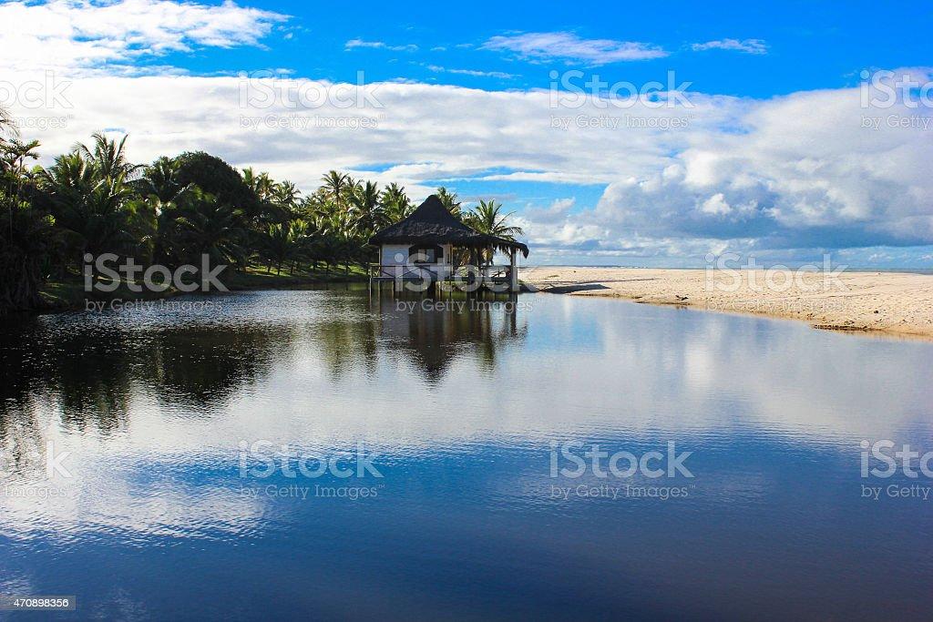 Guaratiba beach in Prado city, Bahia, Brazil stock photo